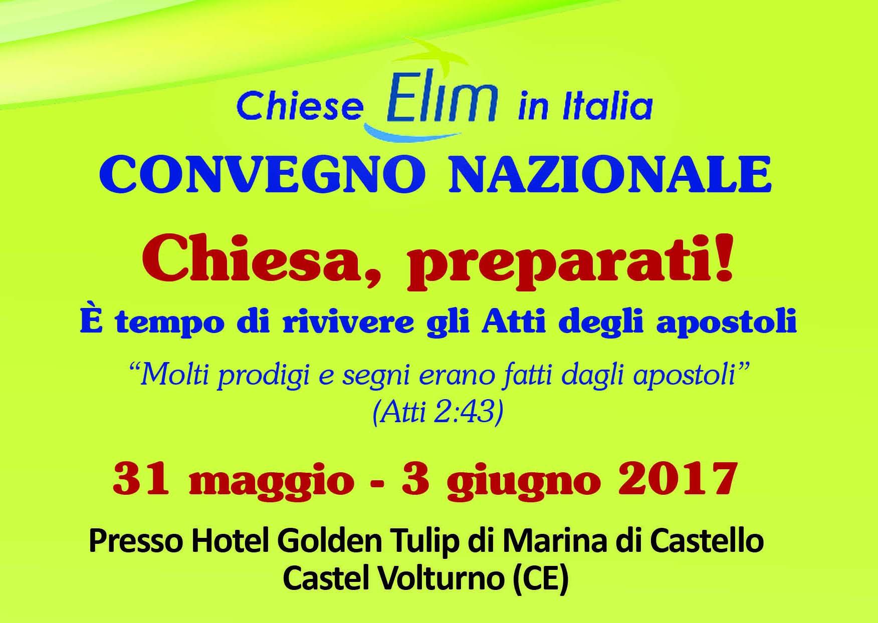 Prossimo Convegno Nazionale 31 maggio-3 giugno 2017 a Castel Volturno (CE)