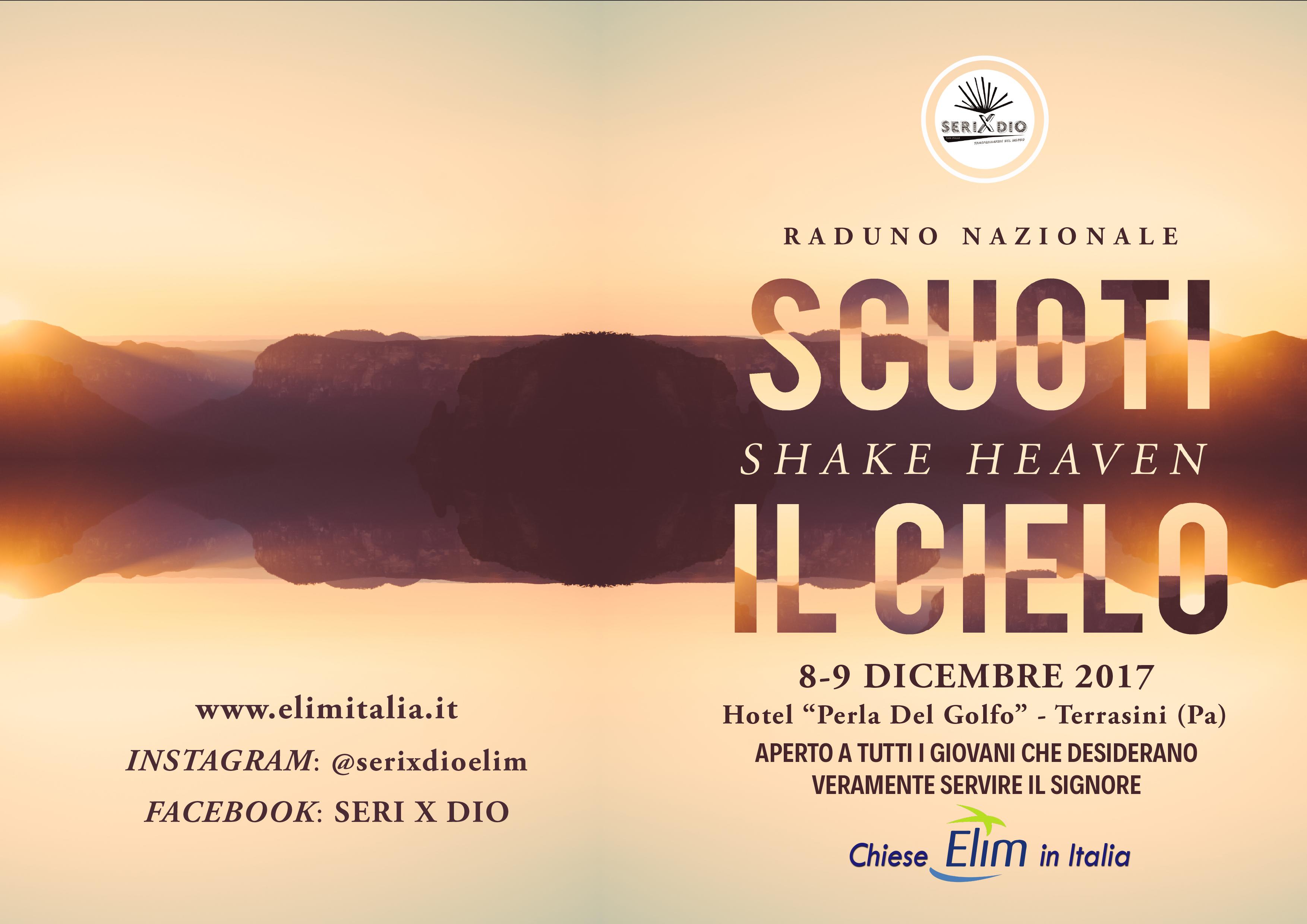 'SHAKE HEAVEN – SCUOTI I CIELI' – SERIXDIO 1° Raduno Nazionale Giovanile 8-9 Dicembre 2017