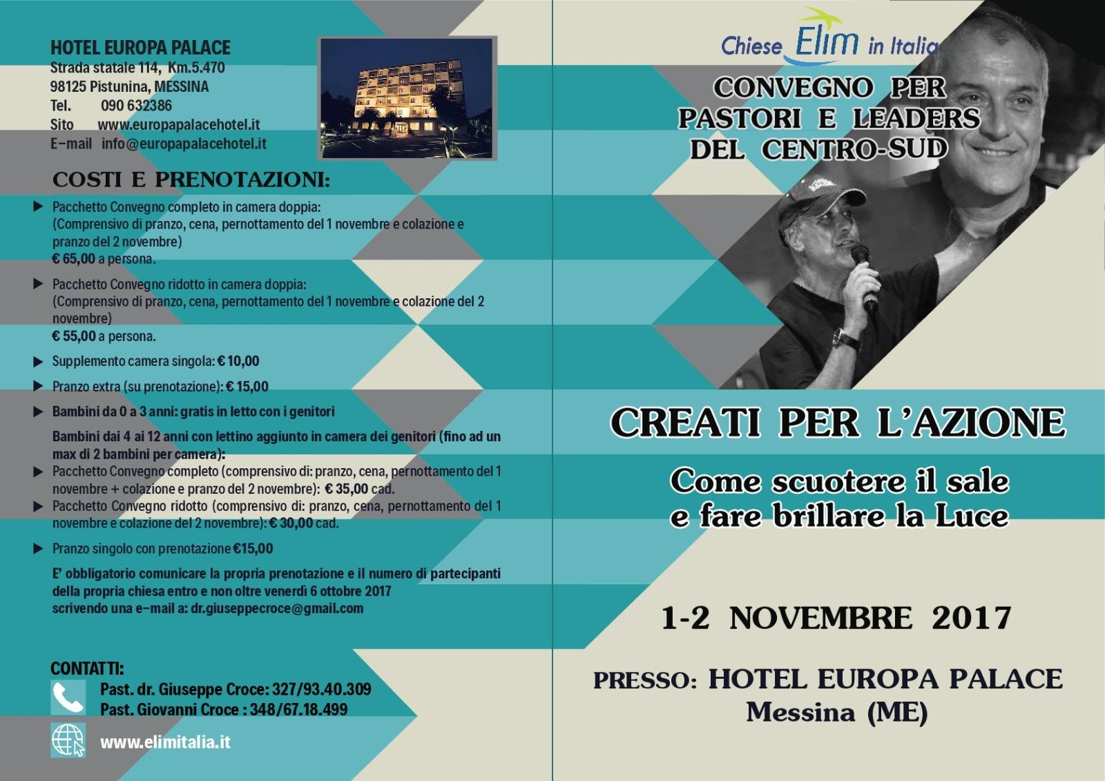 Convegno per pastori e leaders del Centro-Sud – Messina, 1-2 novembre 2017