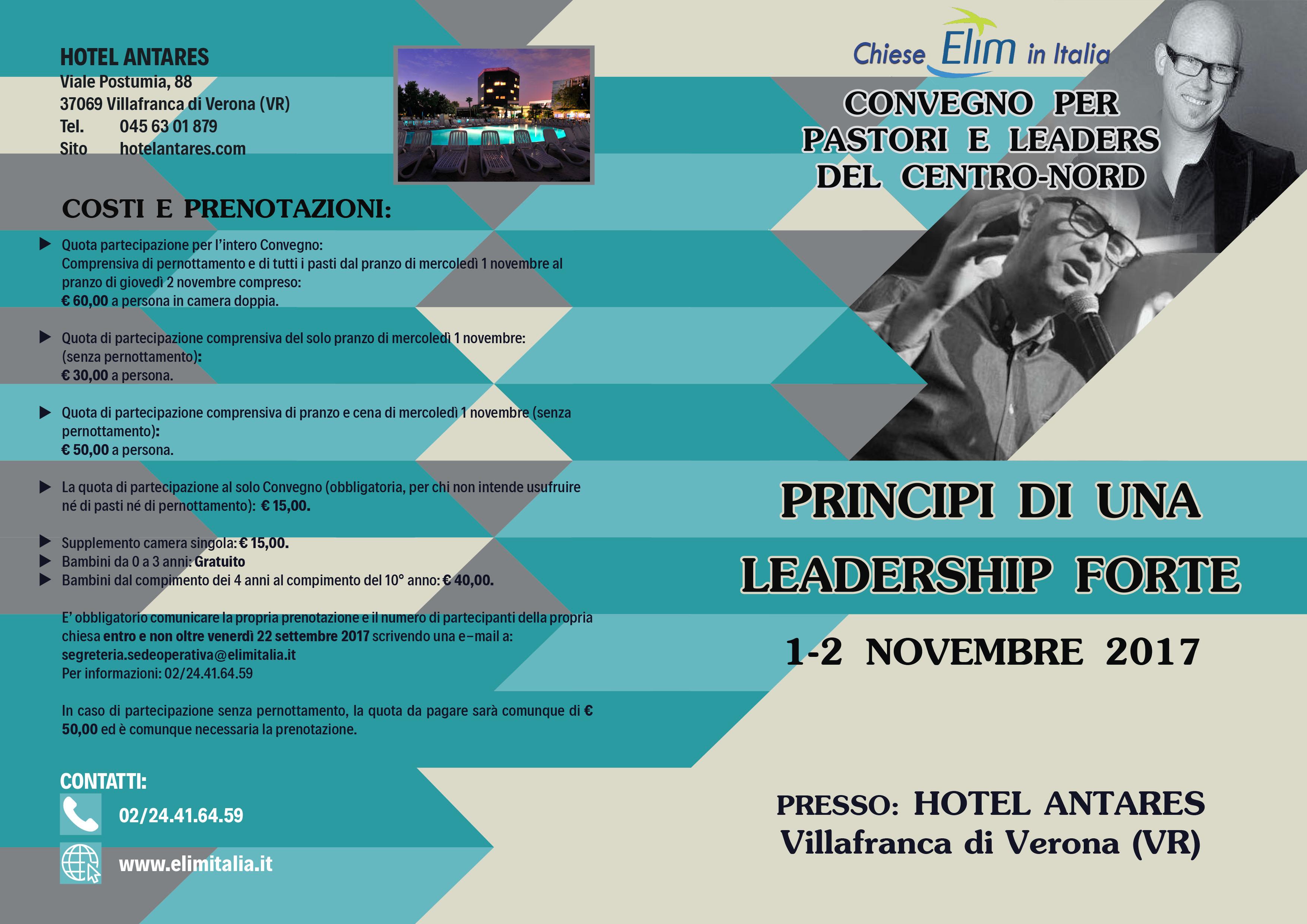 Convegno per pastori e leaders del Centro-Nord – Villafranca di Verona, 1-2 novembre 2017