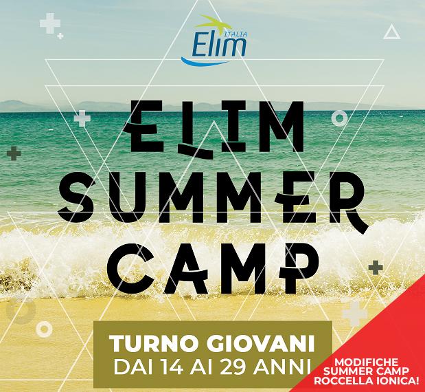 MODIFICHE SUMMER CAMP a Roccella Ionica – Dal 18-24 agosto 2019