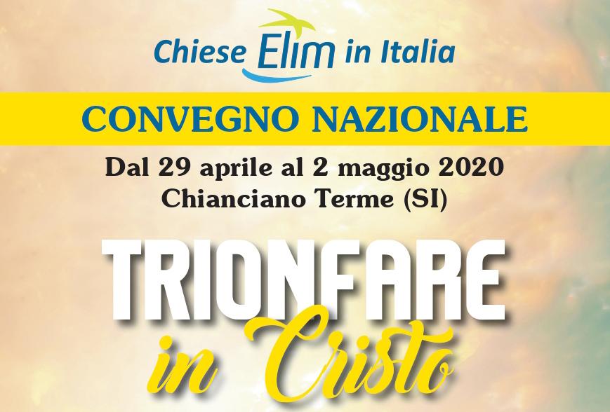 'TRIONFARE IN CRISTO' – CONVEGNO NAZIONALE – 29 aprile-02 maggio 2020, Chianciano Terme (SI)